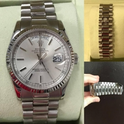 W#40 Rolex President  New model/buckle  white gold  Double quickset  Y serial Like new condition  Trade in special  $15,950.00