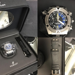 W#04 Hublot King Power Oceanographic Titanium 48mm Quick change bands Box/papers/books $12,550.00