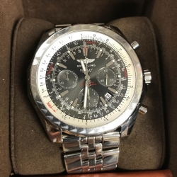 W#37 Breitling Bentley Stainless Steel  Box & books $4,995.00