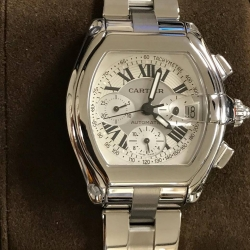 W#38 Cartier Roadster Chronograph Stainless Steel  $4,995.00