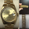 W#27 Rolex 18k yellow gold President Factory diamond dial Double quick set  Excellent condition  12,550.00