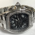 W#49 Cartier Roadster Stainless Steel with custom diamonds $5,995.00