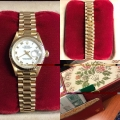 W#43 Rolex ladies President  Yellow gold, quick set, sapphire  L serial $5,695.00