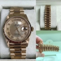 W#25 Rolex Yellow gold President  R serial Double quick, sapphire  Excellent condition  Factory mop dial