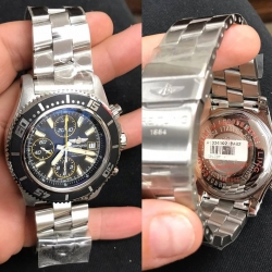 W# Men's stainless steel 44mm super ocean Chronograph bought new / never worn $3550.00