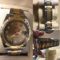W#43 Men's two tone Datejust II Rolex scrambled serial # factory diamond dial $10,950.00
