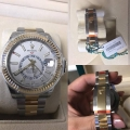 W#36 men's two tone sky dweller Rolex (bought new / never worn ) box/card/books plastic still in watch $16,950.00