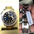 W#24 Men's two tone submariner Rolex watch blue face brand new / never worn 2019 model $13,500.00