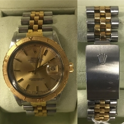 W#07 men's two tone thunderbird Rolex watch plastic crystal regular $5750.00 on sale for $4550.00