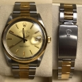 W#31 Fresh Trade in special - Mens two tone DATE model quickset / plastic crystal / excellent condition - $2995.00