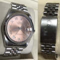 W#25 Fresh trade in - Men's stainless steel jubilee dial Datejust Rolex Watch w/ gold bezel / salmon dial $3995.00