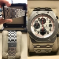 W#03 Fresh trade in special - Men's stainless steel Audemars Piguet Watch Royal oak Offshore panda dial H serial # box/books $15,550.00